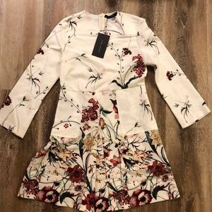 NWT ZARA WOMEN BOTANICAL FLORAL DRESS